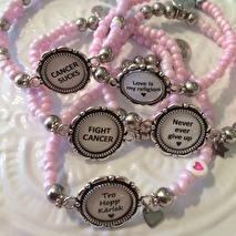 Armband med budskap - rosa (UJ)