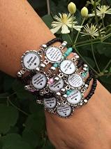 Armband med budskap - svart (UJ)
