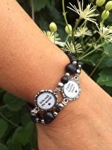 Armband med budskap - turkose (UJ)