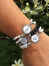Armband med budskap - vitt (UJ)