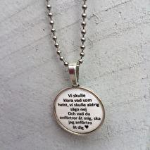 Halsband, Rund berlock med budskap (UJ)