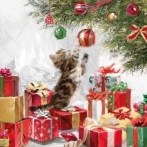 Ambiente Servetter - Kitten and Baubles