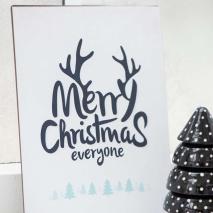 IB Laursen Metall Skylt Merry Christmas everyone
