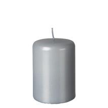 Blockljus, light gråsilver - PEARL 70x100 mm
