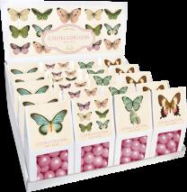 Chokladkulor med crisp, motiv av fjärilar (Sköna Ting)