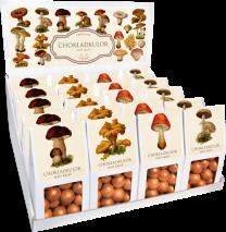 Chokladkulor med crisp, motiv av svampar (Sköna Ting)