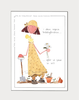 ..Tavla med illustration av Tina Järdhult