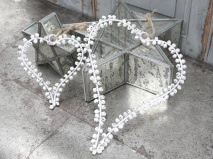 Chic Antique Krans hjärta (med bjällror)