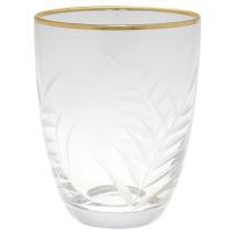 Greengate Gate Noir - Vattenglas med gravyr och guldkant