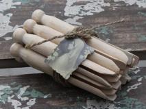 .Klädnypor/tvättklämmor i trä - Chic Antique