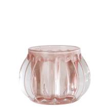 .Vega ljuslykta i glas, ljusrosa (liten)