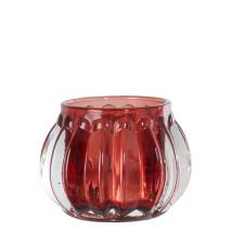 .Vega ljuslykta i glas, röd (liten)