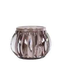 .Vega ljuslykta i glas, rökfärgad/grå (liten)