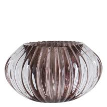 .Vega ljuslykta i glas, rökfärgad/grå (mellan)