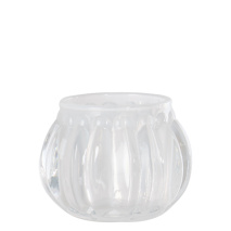 .Vega ljuslykta i glas, vit (liten)