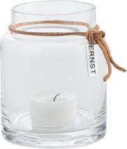 ..ERNST Värmeljuslykta i glas, H 10cm