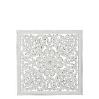Carve Tempeltavla, Vit (45x45 cm)