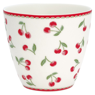 GreenGate Latte Mugg Cherry white