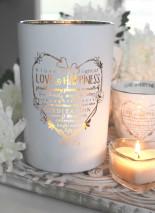 Maja, Love & Happiness (Vit/Guld) - Förhandsbeställning