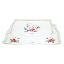 GreenGate Bricka Meadow White Set/2