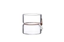..ERNST Vas/värmeljuslykta i glas, H 8,5cm