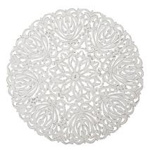 Carve Tempeltavla, rund vit (dia: 115 cm)