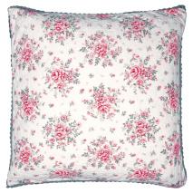 ..Greengate Quilt Kuddfodral Flora white, 50x50 cm