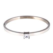 Gemini Armband i rostfritt stål, Fyrkantig sten
