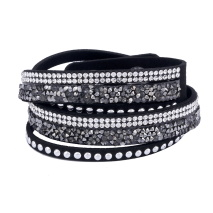Gemini Armband med remmar, Svart/silver