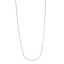 Gemini Halsband, Roséfärgad lång kedja med runda plattor
