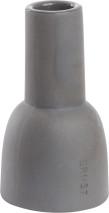 ..ERNST Ljusstake, stengods 12 cm, Mörkgrå