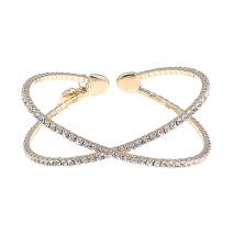 Gemini Armband guldfärgat med strass