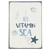 IB Laursen Metall Skylt I need vitamin sea