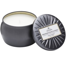 .Voluspa Decorative Tin Candle - Makassar Ebony & Peach(doftljus)
