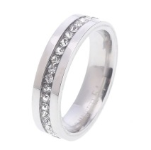Gemini, Ring i rostfritt stål, stenar runt ringen