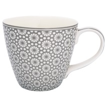 GreenGate Mugg med öra, Kelly warm grey