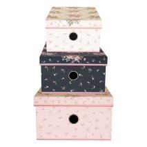GreenGate Plåtburk, Kartong box/låda, Marley pale pink - Förhandsbeställning
