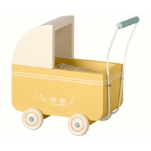 .Maileg, micro barnvagn Gul