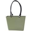 ...Perstorps väska, Sweden Bag med långa läderhandtag (Green Plastic), Liten - Warm Sand