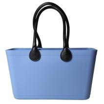 ...Perstorps väska,  Sweden Bag med långa läderhandtag (Green Plastic),Stor - Sky Blue/ljus blå