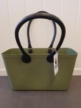 ...Perstorps väska,  Sweden Bag med långa läderhandtag (Green Plastic),Stor - Nature Green