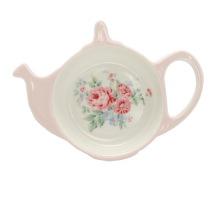 Greengate tehållare/tefat, Marley pale pink (tea bag holder)