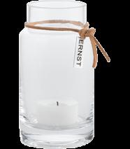..ERNST Vas/värmeljuslykta hög i glas, H 12cm