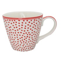 ..GreenGate, Mugg med öra - Dot white