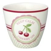 GreenGate Lattemugg Cherry mega white