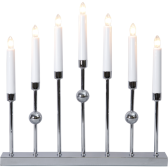 ...Ljusstake / Adventsstake, Gustavo (silver/kromfärgad)