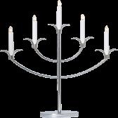 ...Ljusstake / Adventsstake, Tilpi (silver/kromfärgad)