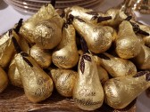 Chokladpäron i guldpapper