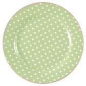 GreenGate Assiett Spot pale green