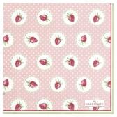 Greengate Pappersservett kaffe,  Strawberry pale pink